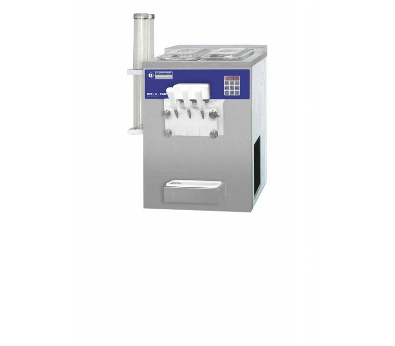 Diamond Softijsmachine - 22,5kg/uur - 2 smaken - 1 mengsel - luchtcondensator
