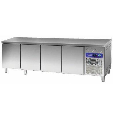 Diamond Koelwerkbank 80 cm diep - RVS - 4 deurs - 2542x80x(h)90cm - 760 liter