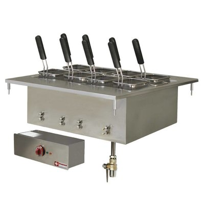 Diamond Pastakoker Elektrisch RVS | Drop-in | 40 Liter | 400V/9kW | 700x600mm