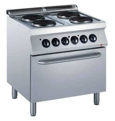 Diamond Electric Stove | 4 Records | 400V | 2,6kW | Electric Oven | 800x700x (h) 850 / 920mm