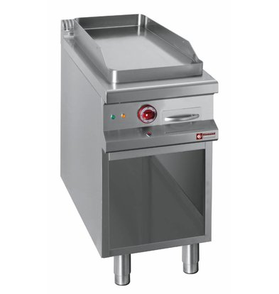 Diamond griddle | electric | Flat Griddle | 400V | Open Cupboard | 400x900x (h) 850 / 920mm