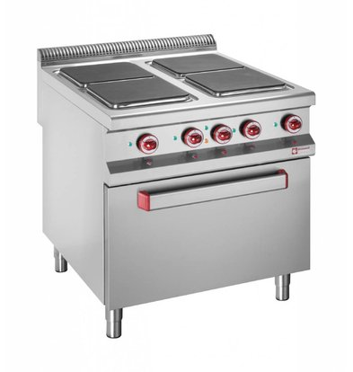 Diamond Electric stove | 4 Square Cooking | 400V | 3 and 4kW | Electric Oven | 800x900x (h) 850 / 920mm