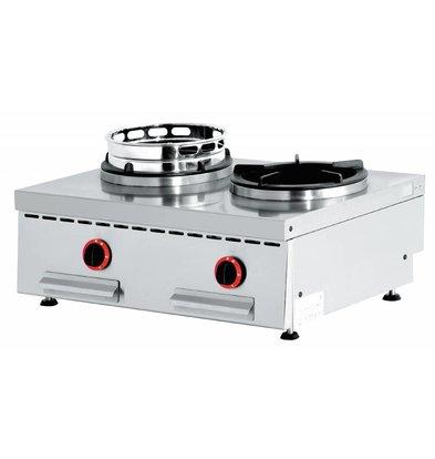 Diamond Wok burner gas stove 2 Tabletop - 2 x 15KW