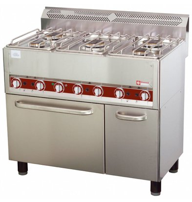 Diamond Horeca Stove   gas   5 Burners   Convection Oven   3 and 3,6kW   990x600x (H) 860mm