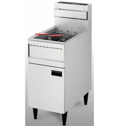 Diamond fryer | gas | 23 Ltr | 21 kW | With Mount | 40x74x (h) 87 / 114cm
