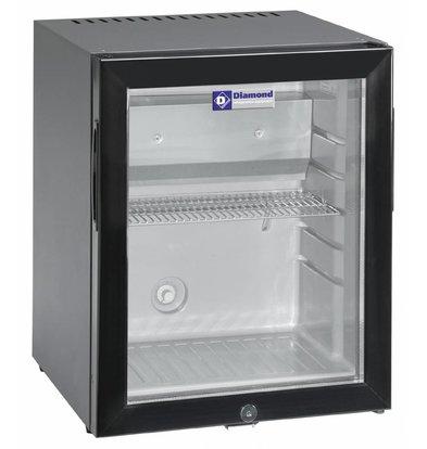 Diamond Mini Bar with Glass Door | 32 liters | 402x406x500 (h) mm