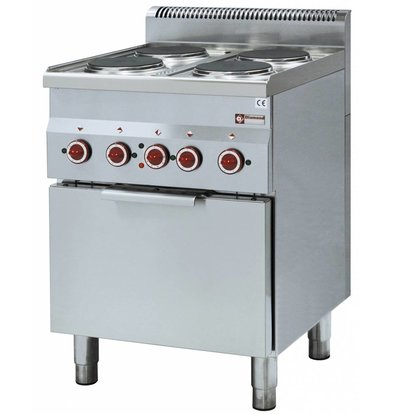 Diamond stove | Electric Convection Oven | 4 Cooking | 400V | 12kW | 600x600x (h) 850 / 970mm