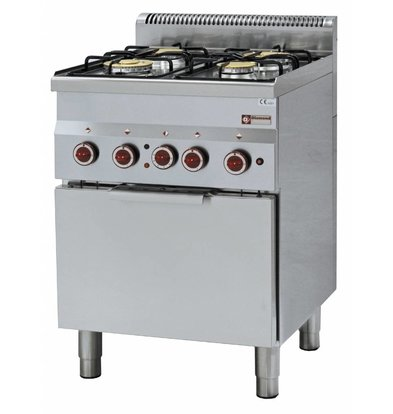 Diamond Gas stove   4 Burners   3,3 and 3,6kW   With Electric Convection Oven   600x600x (h) 850 / 970mm
