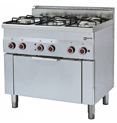Diamond Gas stove   5 Burners   3,3 and 3,6kW   With Electric Convection Oven   900x600x (h) 850 / 970mm