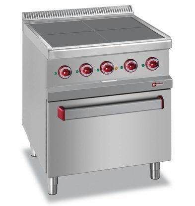 Diamond Stove Electric + Oven GN2 / 1 | 4 plates 300x300mm | 400V / 15.3kW | 700x700x850 / 920 (h) mm