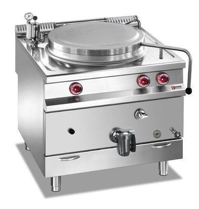 Diamond Gas Boiling Pan SS | 150 Liter | Direct Heating | 800x900x850 / 920 (h) mm