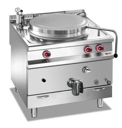 Diamond Gas Boiling Pan SS | 100 Liter | Indirect Heating | 800x900x850 / 920 (h) mm