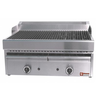 Diamond Stoomgrill Gas Gietijzer- Rooster - Tafelmodel - 77x63x(h)43cm