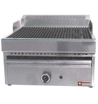 Diamond Stoomgrill Gas - Rooster Gietijzer - Tafelmodel - 330x470mm - 41x63x(h)43cm
