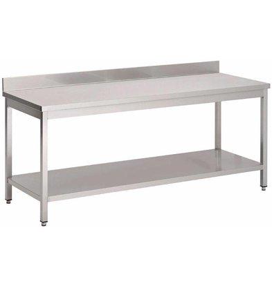 XXLselect Werktafel met Onderblad + Achteropstand | Gastro M | KEUZE UIT 8 BREEDTES