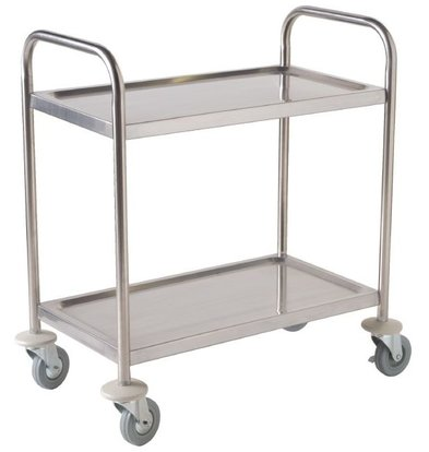 Vogue Stainless Steel Stacker Large | on Smooth Wheels | 2 sheets | 860x535x93 (h) mm | 128 kg carrying capacity