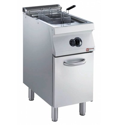 Diamond Gas Fryer | 15 Liter | Exterior Burners | on Cabinet | 400x700x (h) 850 / 920mm