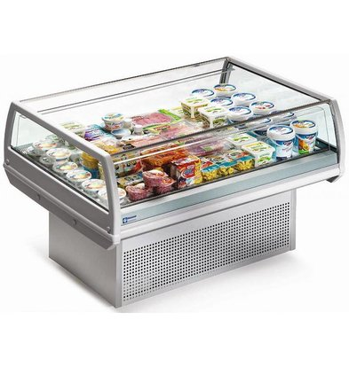 Diamond Koelvitrine - RVS - Self-Service - 150x96x(h)92cm