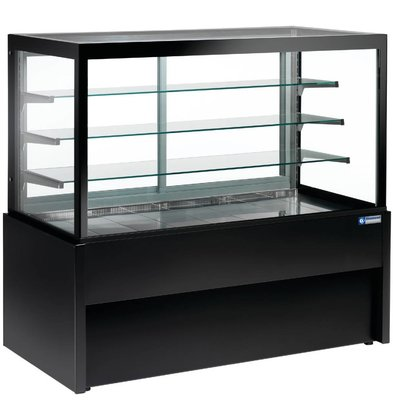 Diamond Display Koelvitrine Zwart - 4 niveau's -780x(h)1380mm in 3 Breedtes