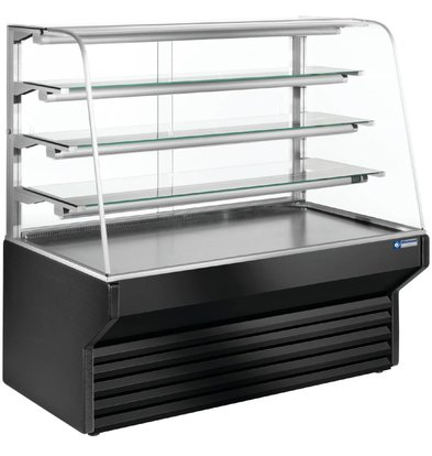 Diamond Display Koelvitrine Zwart - 4 niveau's -790x(h)1330mm in 3 Breedtes