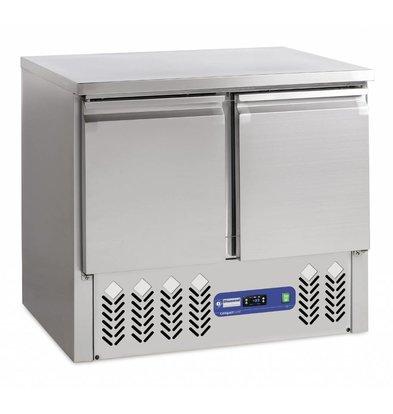 Diamond Fridge - stainless steel - 2 doors - 90x70x (h) 87cm - 240 liters