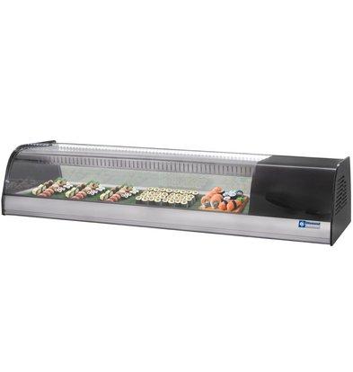 Diamond Sushi Vitrine 6 x 1 / 3GN - 1380x415x (h) 270mm