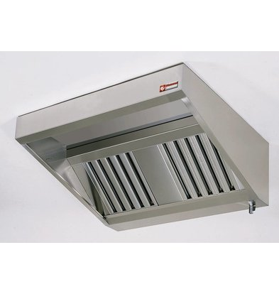 Diamond Wall Stainless Steel Extractor Hood Snack - Motor Available - 950x (h) 400mm - Choice of 5 Sizes
