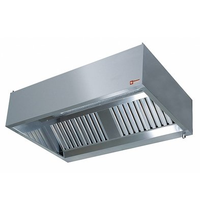 Diamond Wall Stainless Steel Extractor Hood Gastro - Motor Available - 950x (h) 400mm - Choice of 7 Sizes