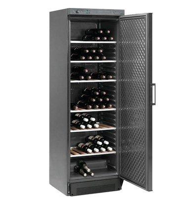 Diamond Wine cabinet 380 liters - Glass door - Black - 595x595x (h) 1940mm