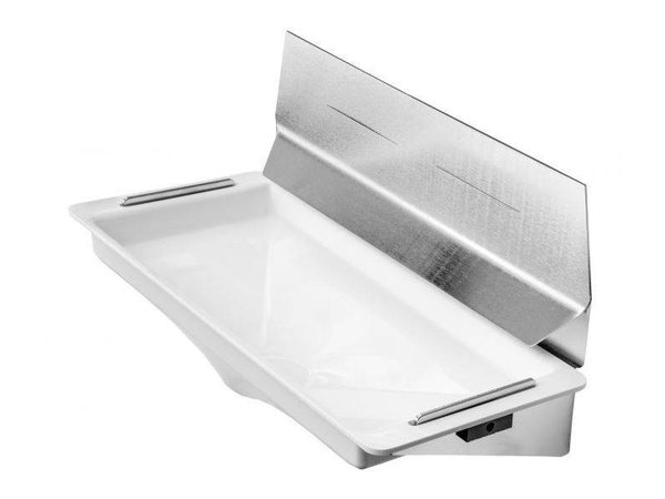 XXLselect Water Tray / Drip tray for Dyson Hand Dryer (Universal) | WHITE + Stainless Steel Spray Wand