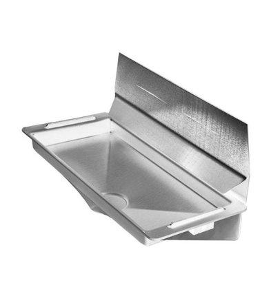 XXLselect Wateropvangbak / Lekbak DELUXE voor Dyson Handdroger (Universeel) | GRIJS + RVS Spatwand