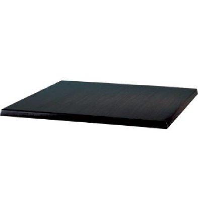 Bolero Werzalit zwart tafelblad, 60x60cm