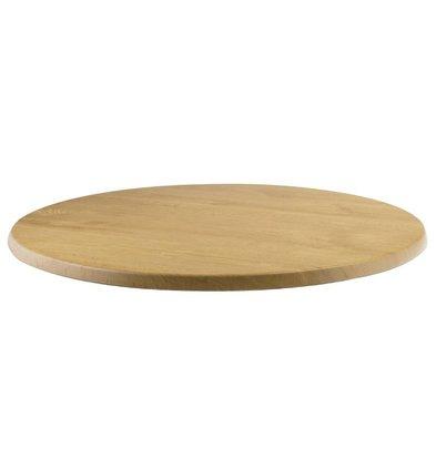 Bolero Werzalit licht eiken tafelblad, rond 60cm