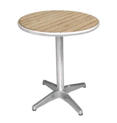Bolero Bistro Table Patio - Aluminum Frame - with ash Tabletop - 72 (H) x60 (Ø) cm