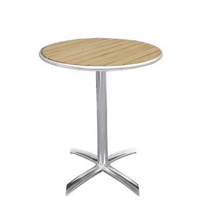 Bolero Folding Catering Table - Aluminum frame - with ash Tabletop - 72 (H) x60 (Ø) cm