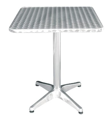 Bolero Catering Table - Aluminium Frame - Stainless steel Worktop - 72 (H) x60x60cm