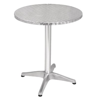 Bolero Bistro table Round - Aluminium Frame - Stainless steel Worktop - 72 (H) x60 (Ø) mm