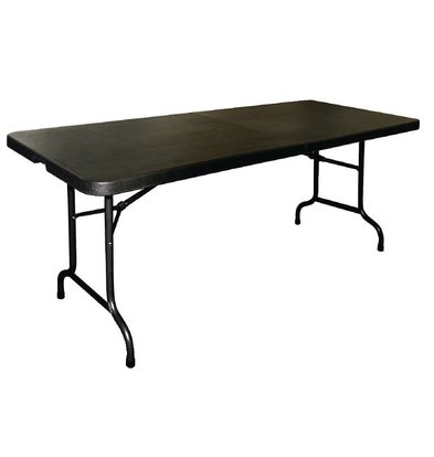 Bolero Folding table (foldable into a suitcase) - Black - 73.5 (h) x183 (b) cm