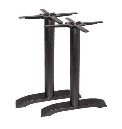 Bolero Double Table leg cast iron - Universal - High 72cm - tabletops to 700x1100mm