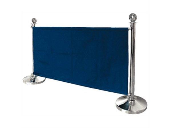 Bolero Canvas afzetdoek voor afzetpaaltjes - Blauw