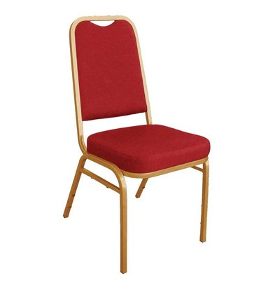Bolero Banquet Chair Stackable with Straight Back - Weatherproof - Red - Price per 4 pieces
