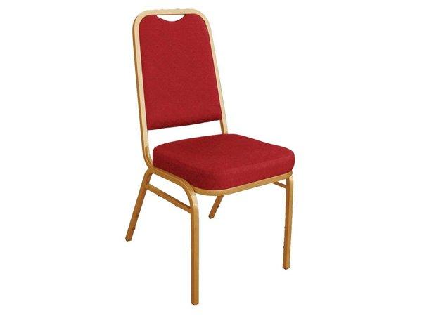 Bolero Banketstoel Stapelbaar met Rechte Rug - Weerbestendig - Rood - Prijs per 4 stuks