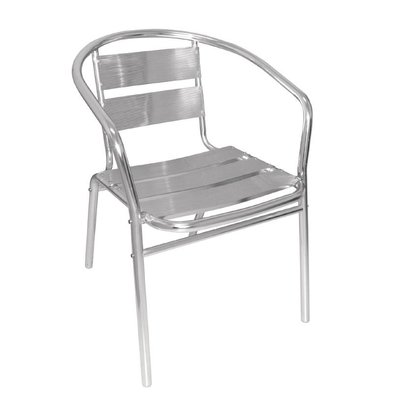 Bolero Stackable Chairs Aluminum - Round - Price per 4 pieces
