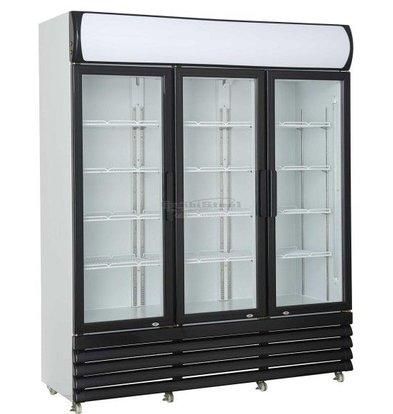 Combisteel Fridge 3 Glass doors   1065 liters   Static with Fan   1600x610x1973 (h) mm