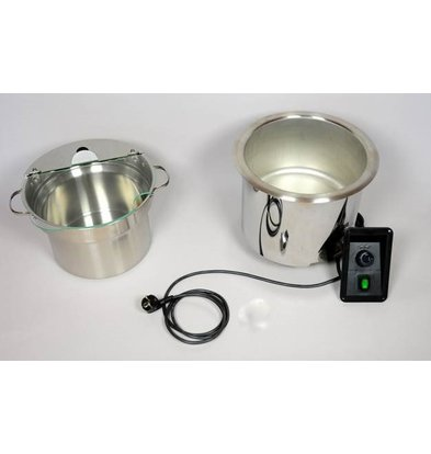 Mobile Containing Soup Well RVS Inbouw | Mobile Containing | Incl. Pan 9 Liter | 400W