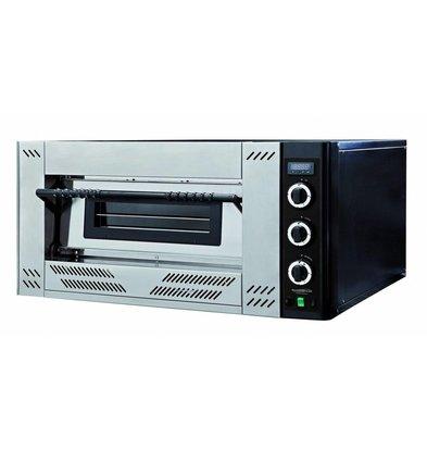 Combisteel Pizza Oven Gas - Pizza 30 cm - 6 pieces - 1000x1362x (h) 560mm