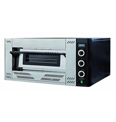 Combisteel Pizza Oven Gas - Pizza 30 cm - 4 pieces - 1000x1062x (h) 560mm