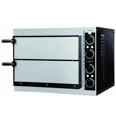 Combisteel Pizza Oven Elektrisch Dubbel - Pizza 32 cm - 2 stuks - 568x500x(h)430mm