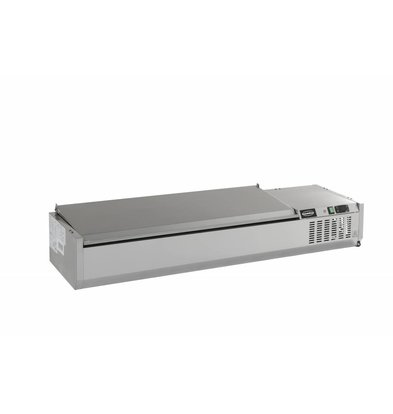 Combisteel Opzetvitrine Stainless Steel Cover - 6 x 1 / 4gn - 1500x395x (h) 225mm