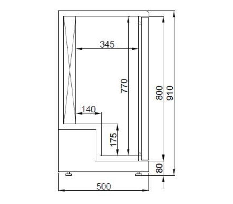 Combisteel Dry Age koelkast - 198 Liter - -3/+5 graden - 920x550x(h)910mm